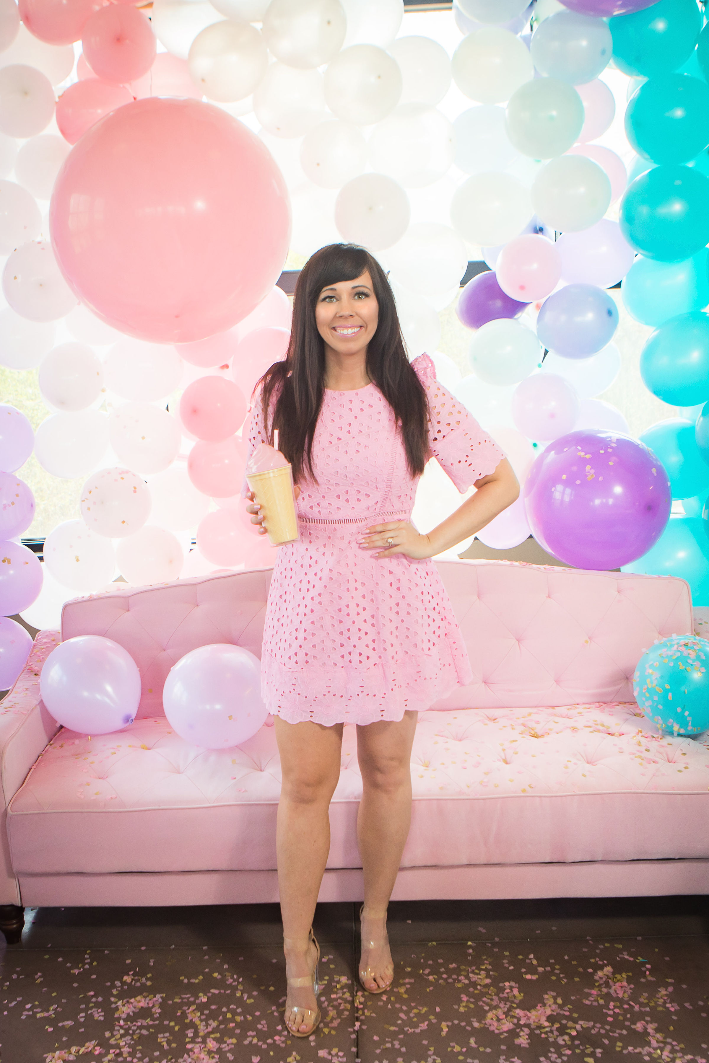 She's Been Scooped Up Bridal Shower with a DIY Balloon Wall