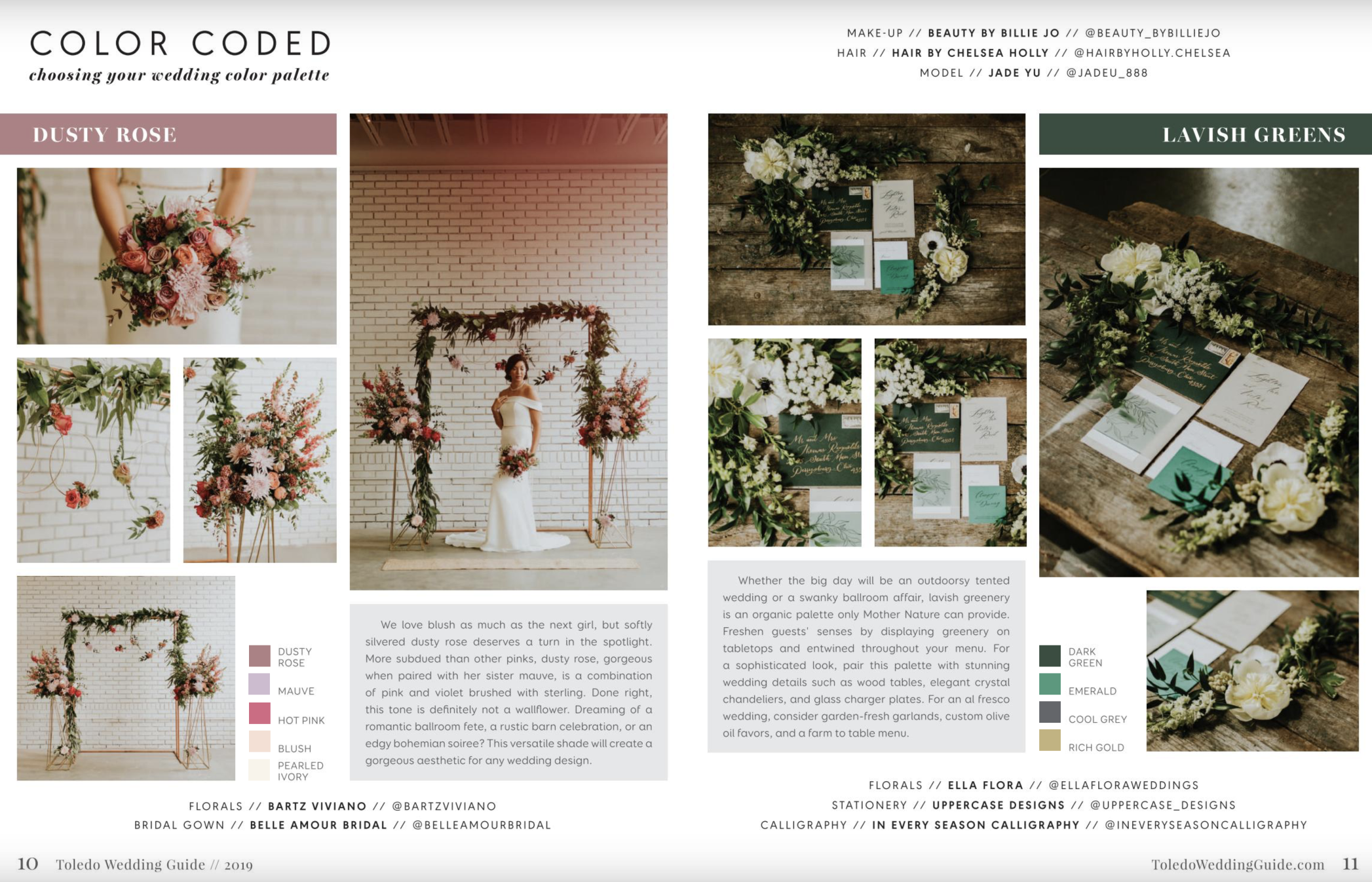 Toledo Wedding Guide - COLOR CODED - Choosing Your Wedding Color Palette by Event Prep Photographed by Adore Wedding Photography