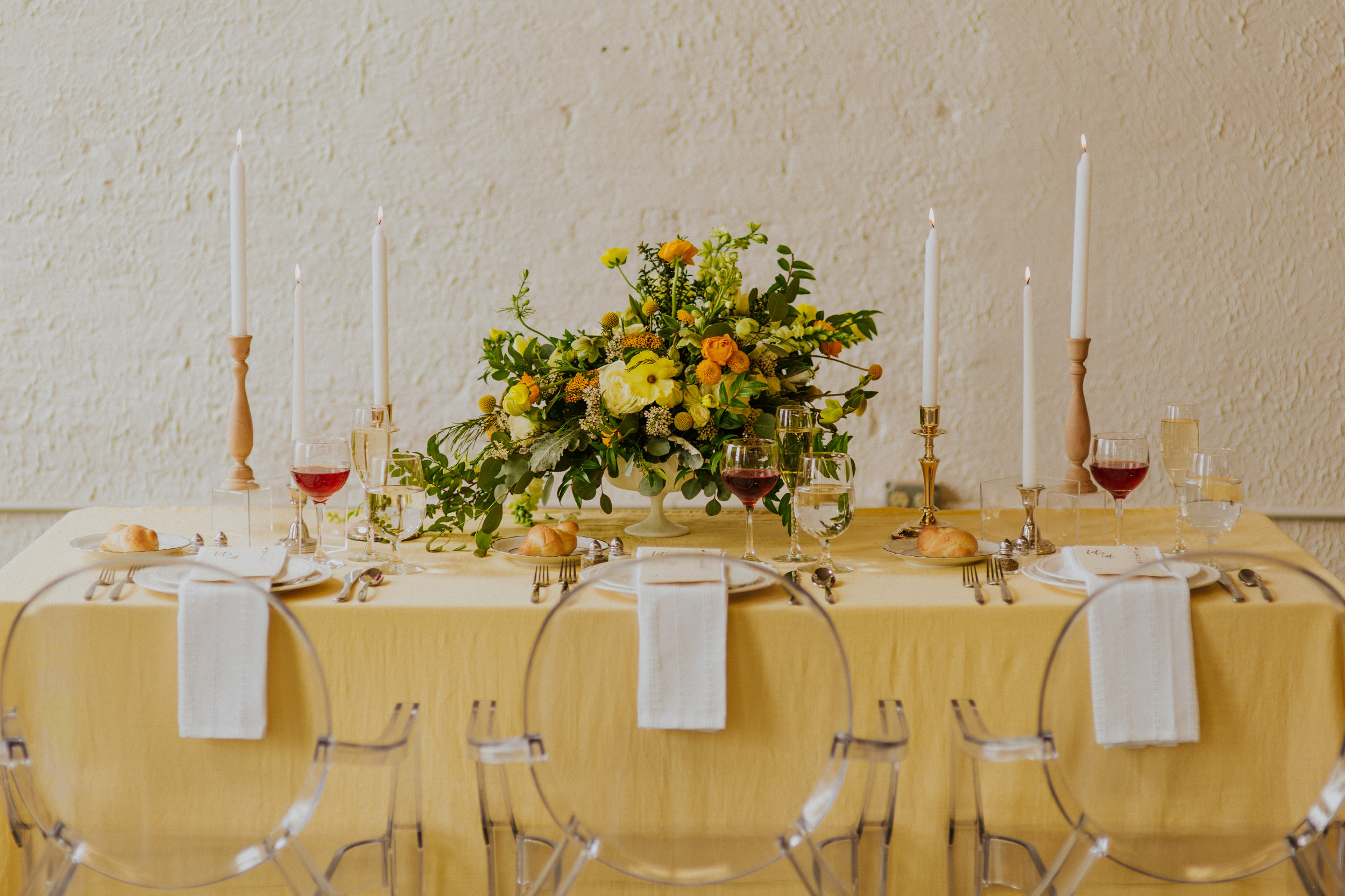 Toledo Wedding Guide - COLOR CODED - Choosing Your Wedding Color Palette by Event Prep Photographed by Adore Wedding Photography / How to create a beautiful yellow wedding color palette
