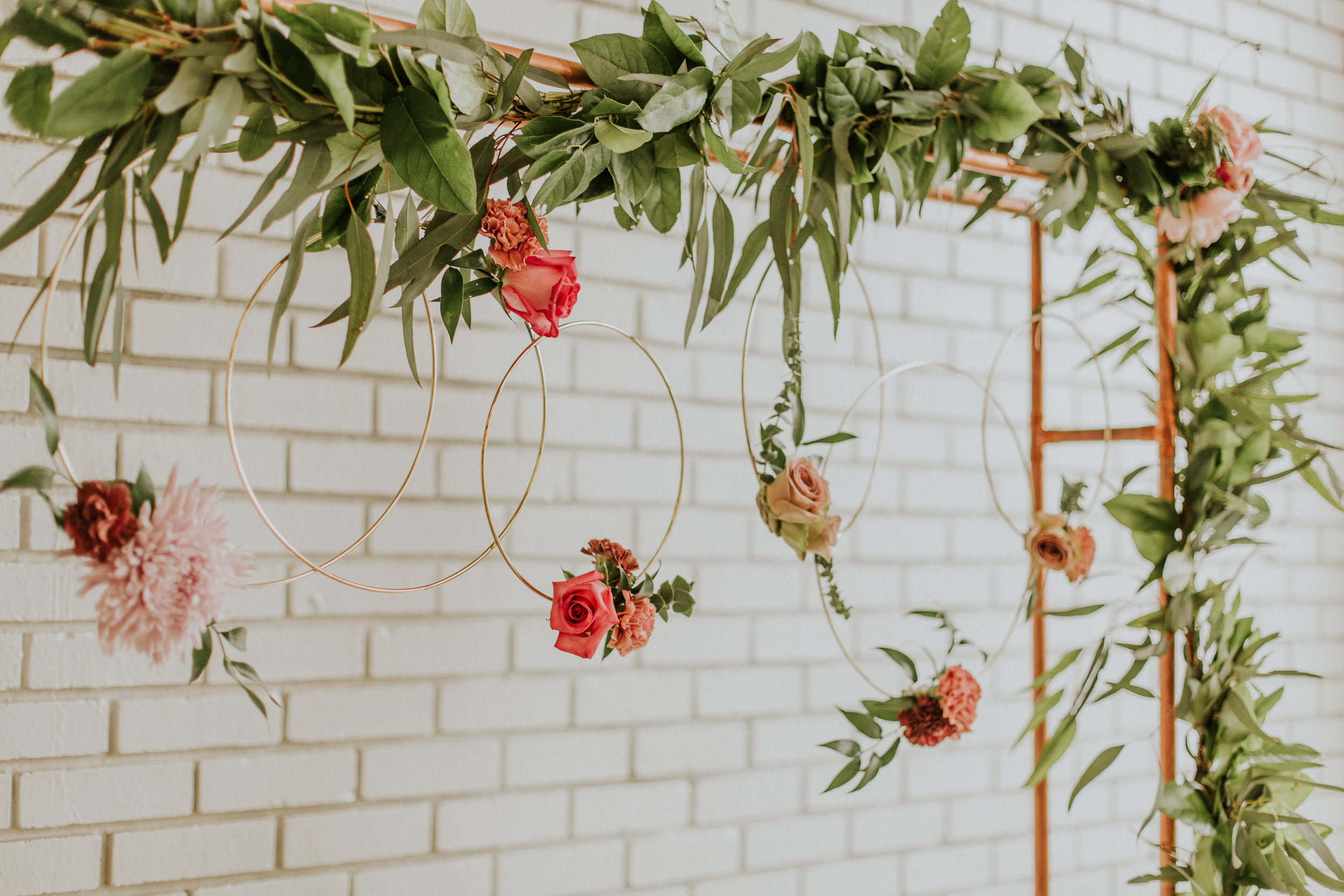 Dusty Rose Wedding Flowers and Ceremony Backdrop Ideas by Bartz Viviano Styled by Event Prep and Photographed by Adore Wedding Photography - As Seen In the Toledo Wedding Guide
