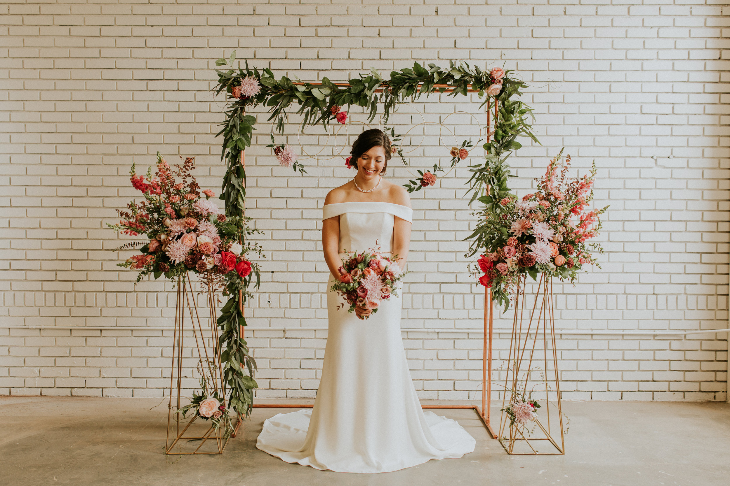 Dusty Rose & Mauve Wedding Flowers and Ceremony Backdrop Ideas by Bartz Viviano Styled by Event Prep and Photographed by Adore Wedding Photography - As Seen In the Toledo Wedding Guide