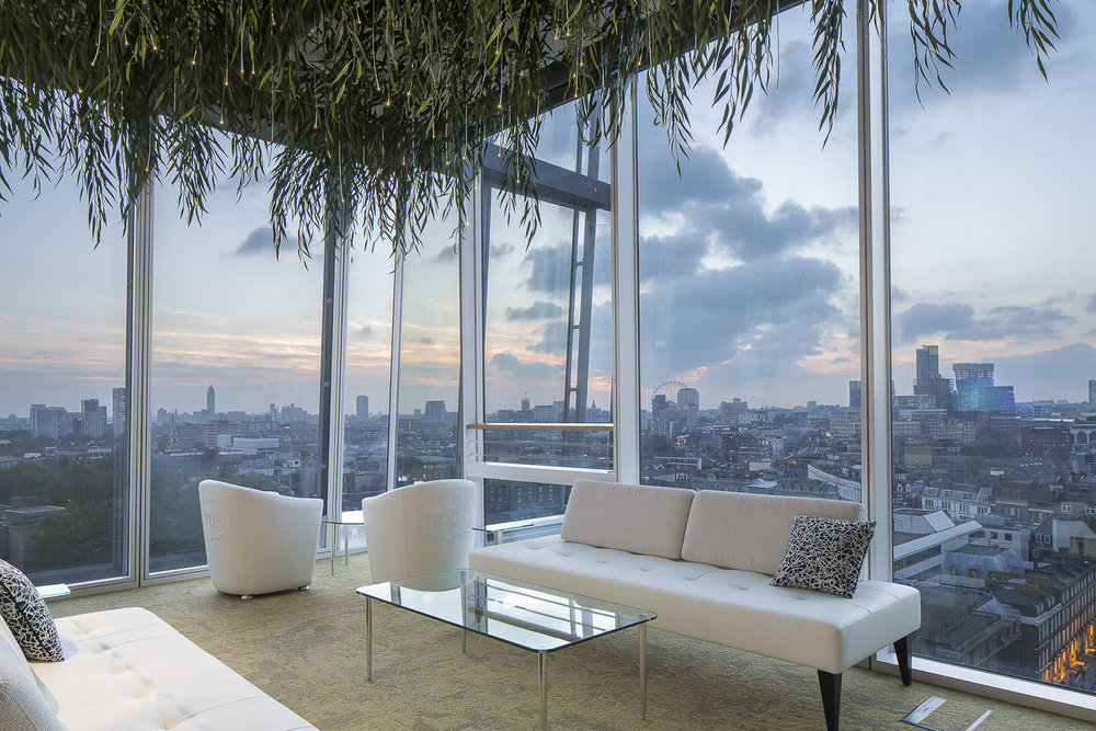 The Shard - The brief was to design a 'garden room' as an escape from the rest of the office. The room occupies an amazing location overlooking the Thames, from the 12th floor of the iconic Shard building at London Bridge.