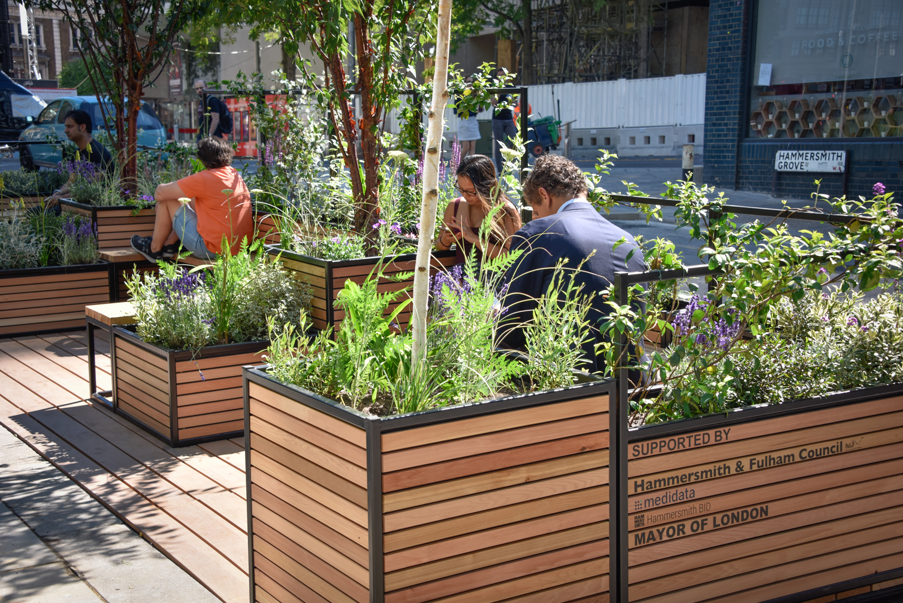 Healthy Streets Awards Meristem Parklets