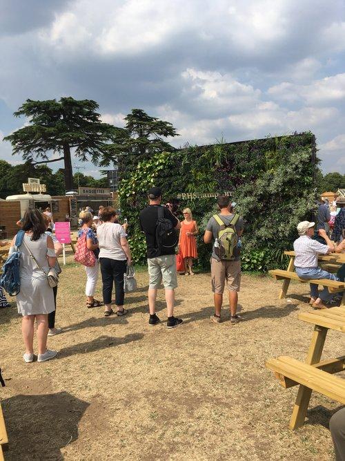 RHS Hampton Court Flower Show 2018 Living Wall 3