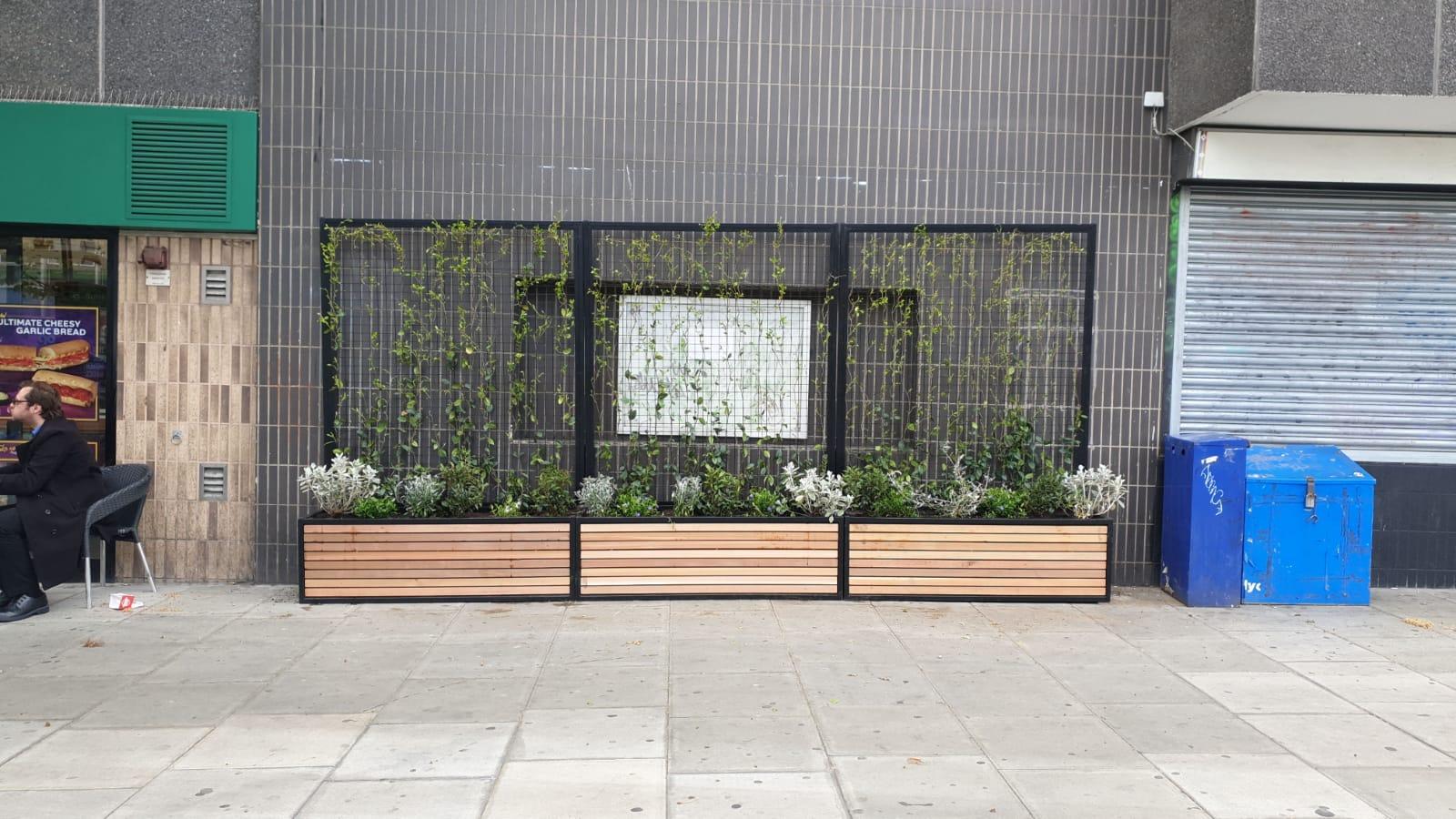 Archway underground station planters
