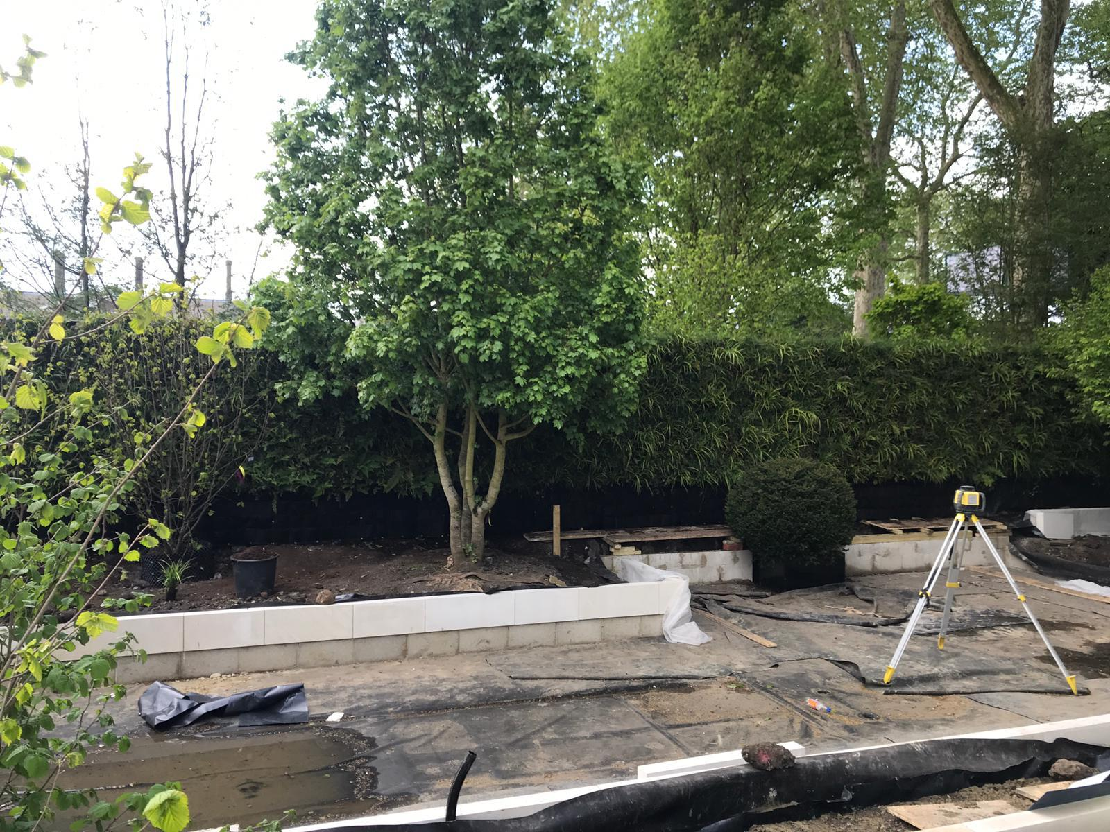 Construction of the living wall at RHS Chelsea