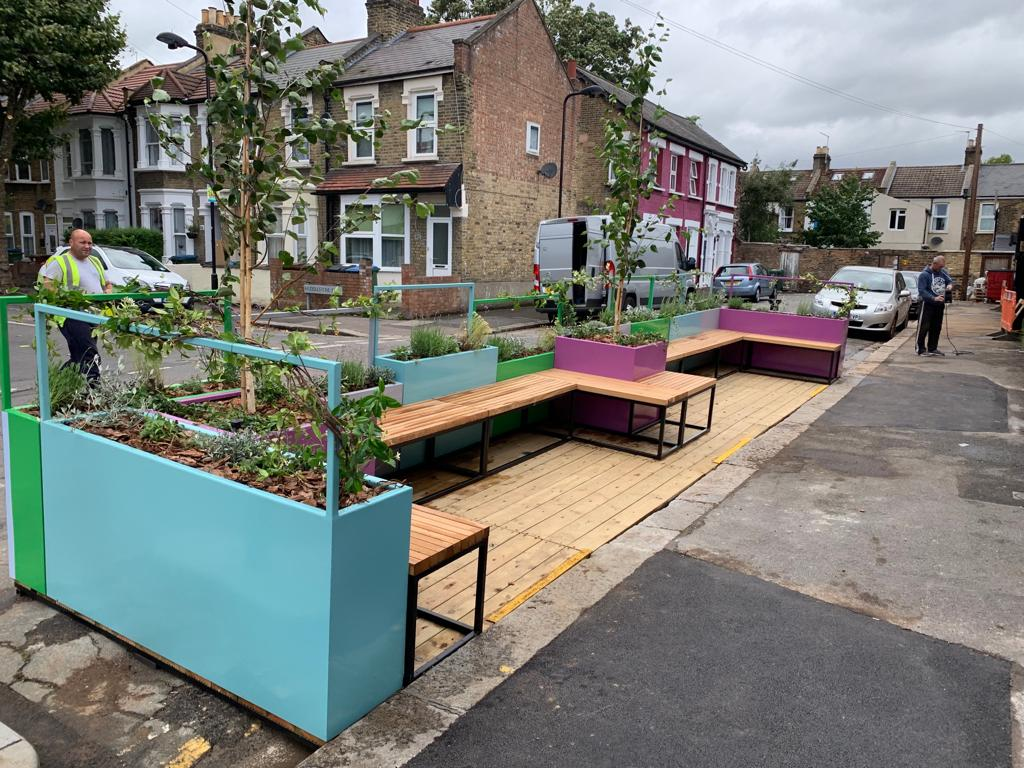 Winchelsea Road Parklet from the front