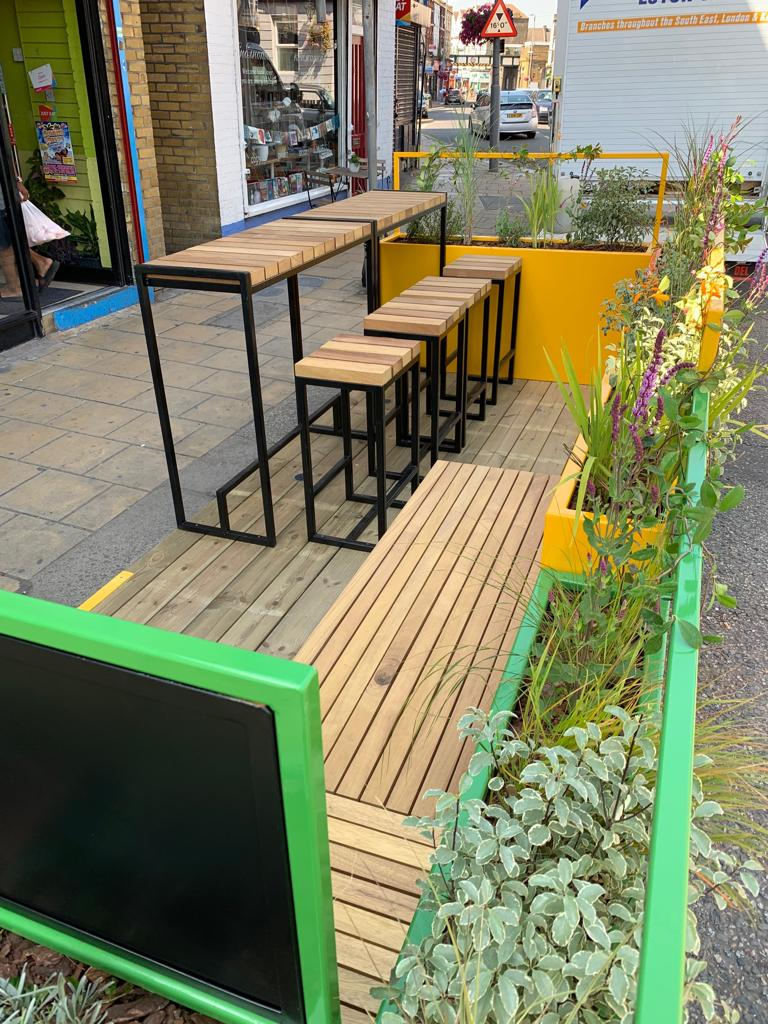 Blackboard on Parklet