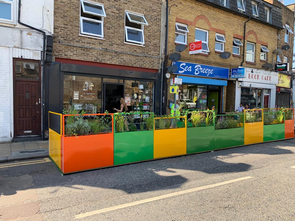 Shop front view of Parklet
