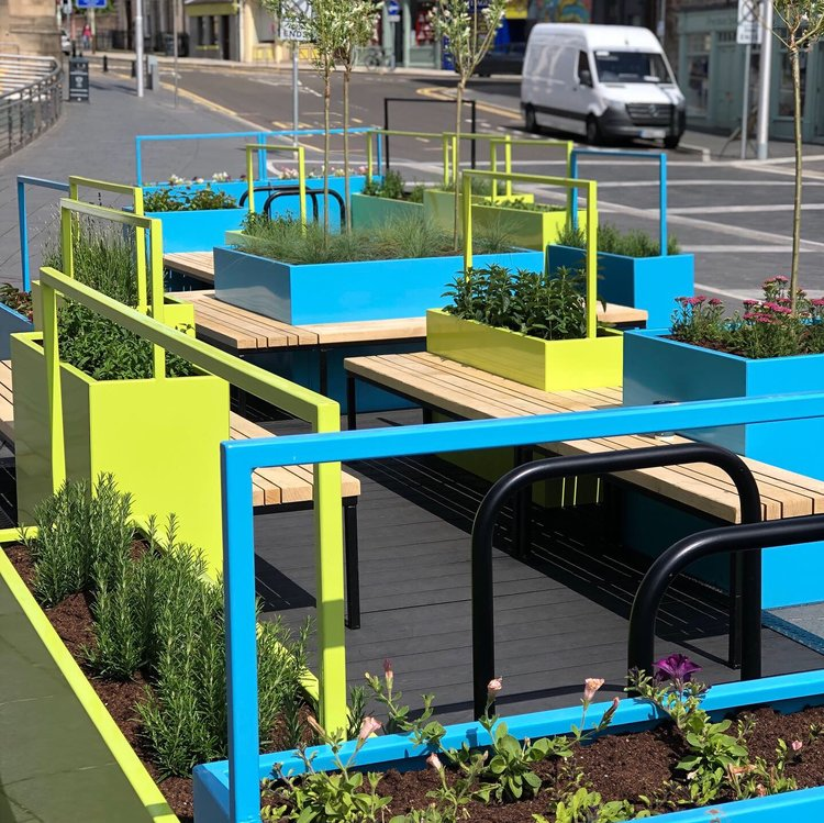 Length view of the Parklet