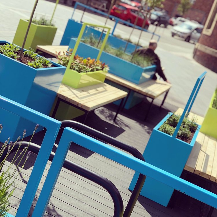 Close up view of Perth and Kinross Parklet