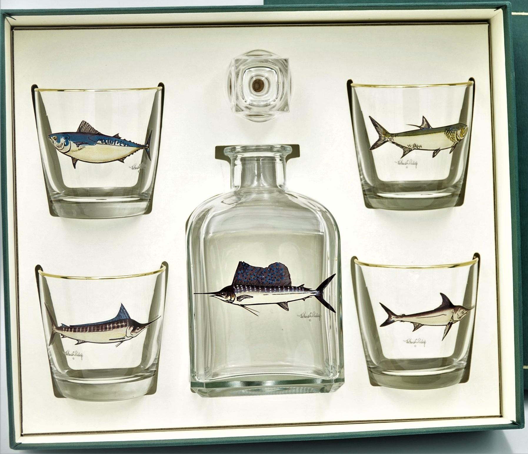 game fish decanter