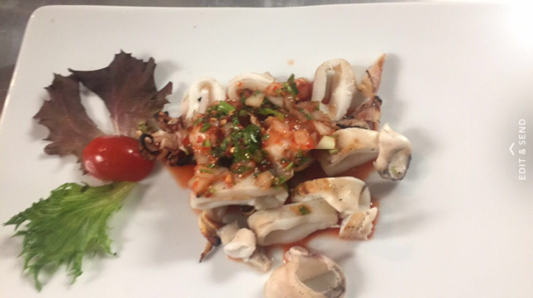 Lulas / grilled squid