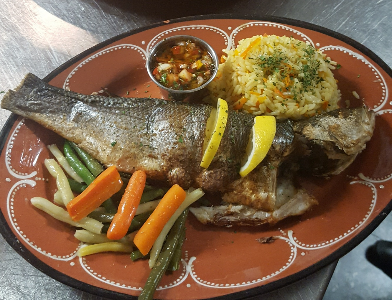 Fish of the day (seabass)