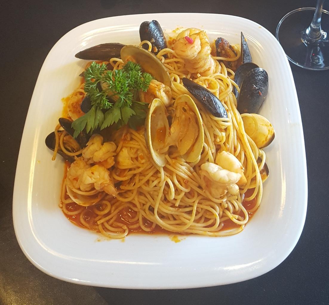 Seafood pasta $28