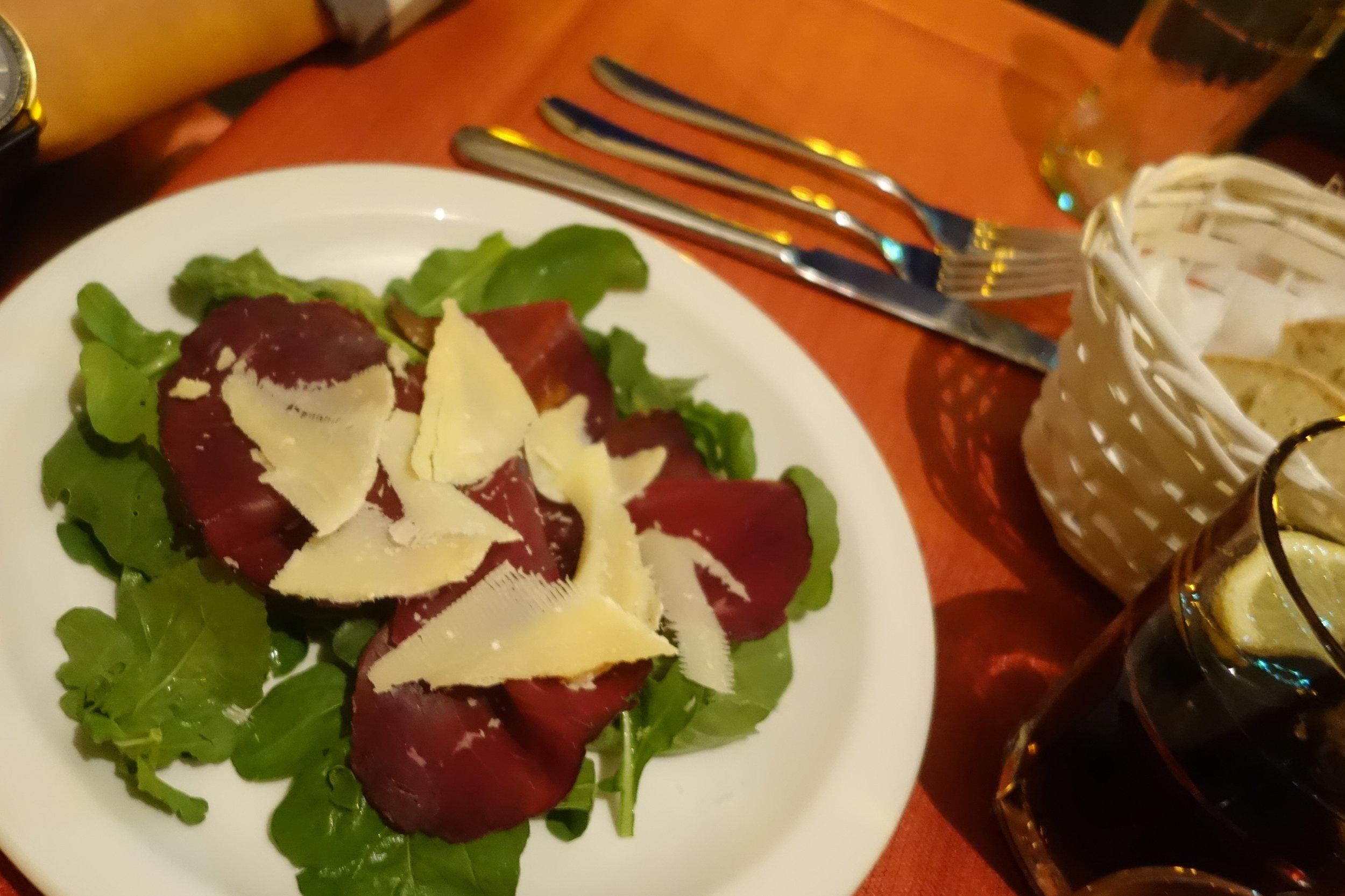 gaeta italy beef carpaccio