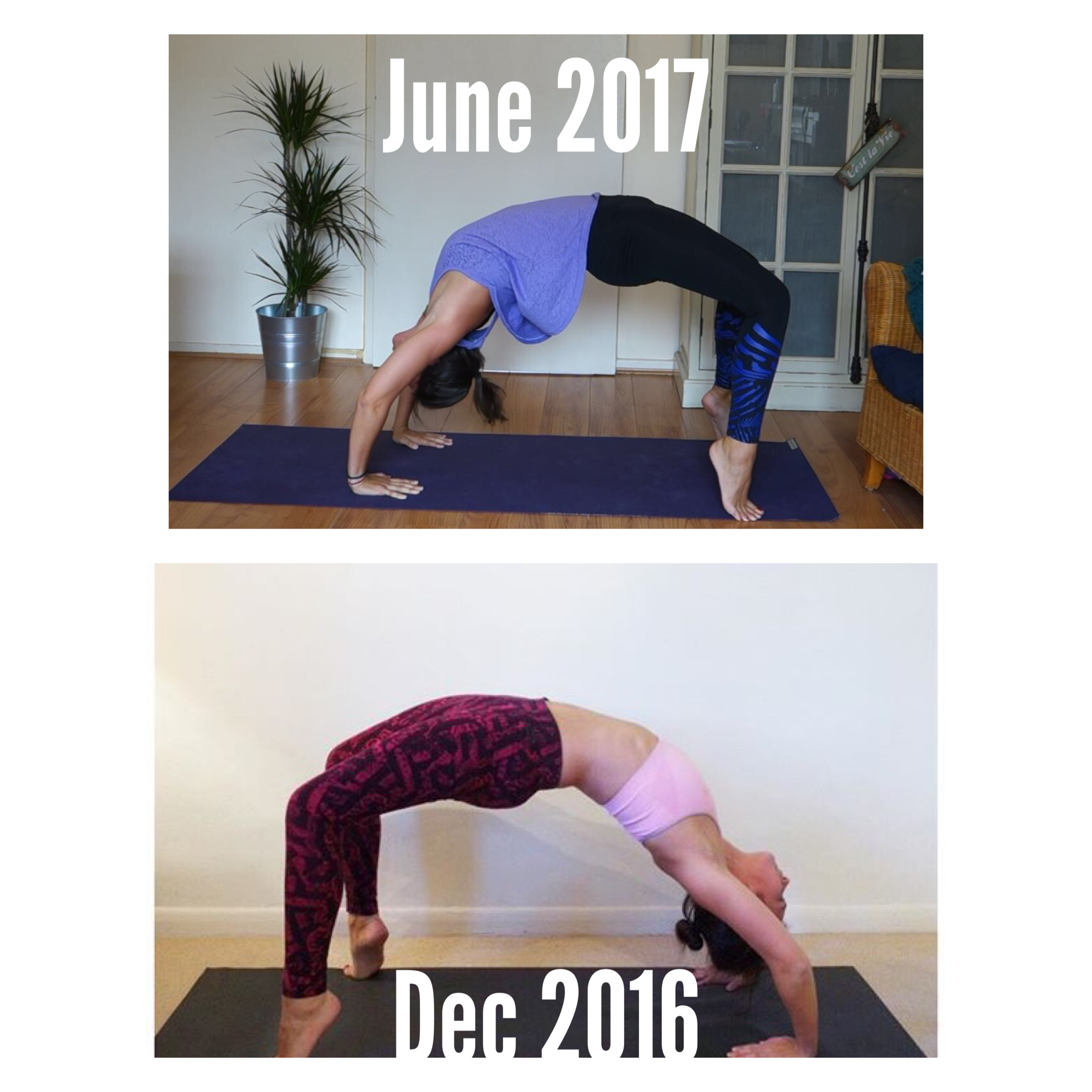 These photos are a year apart, there are some slight improvements in the physical form, but is that really what we're aiming for?