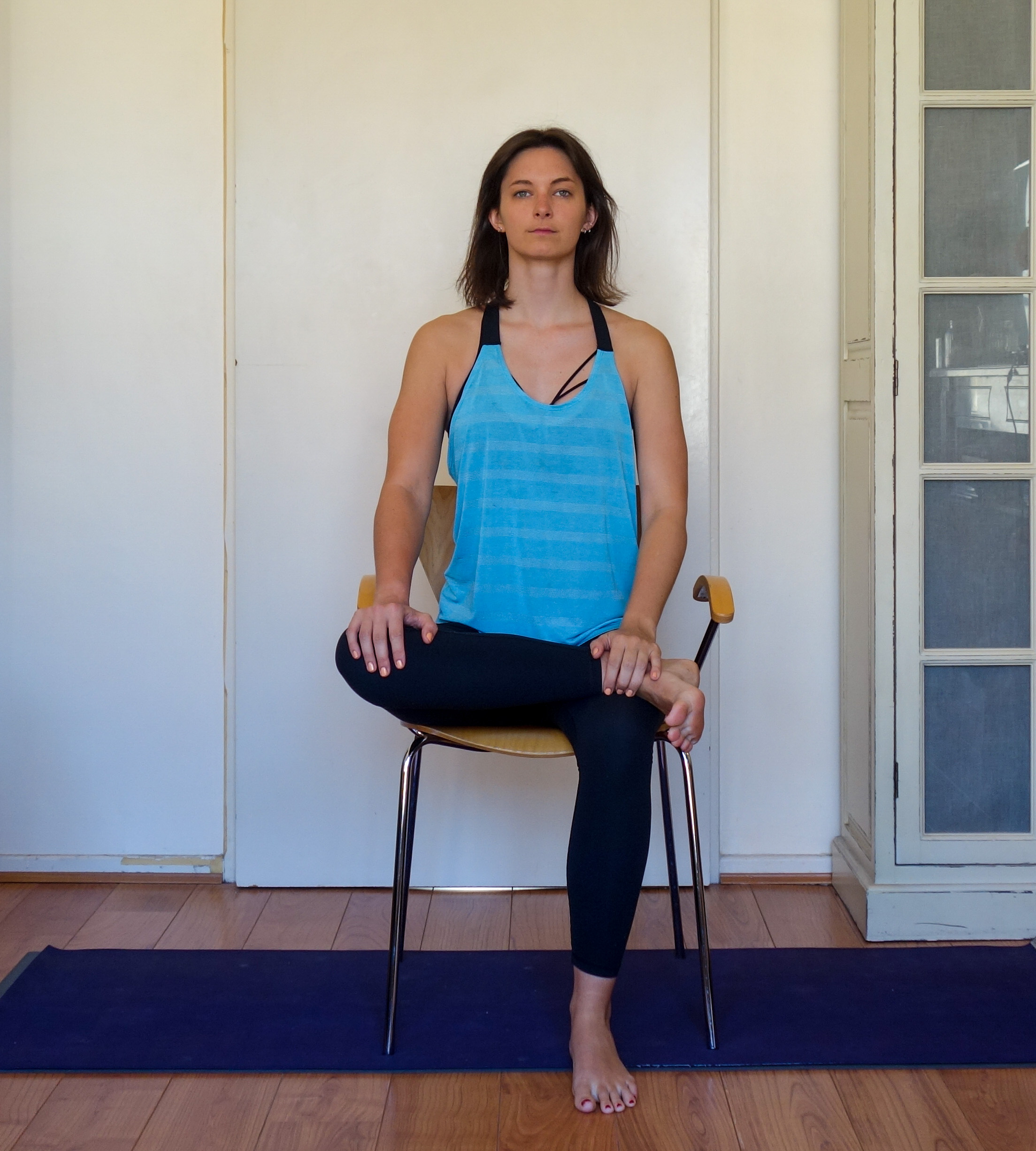 Chair Yoga Seated Pigeon