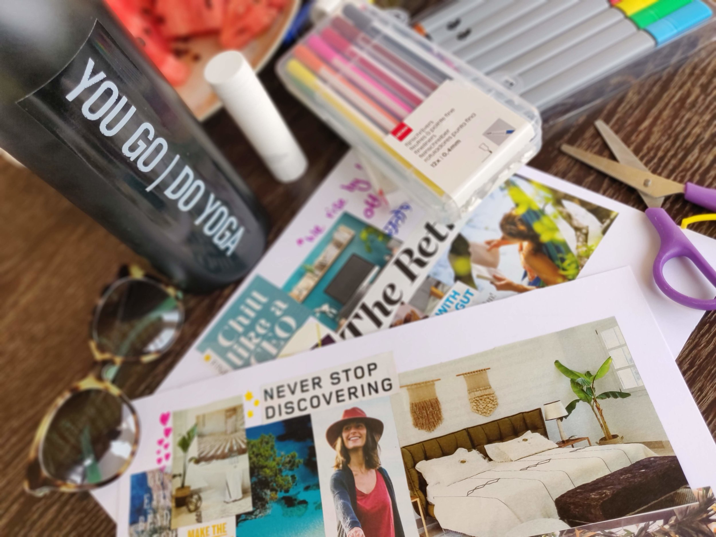 Creating vision boards can be a powerful tool for keeping your mind focussed
