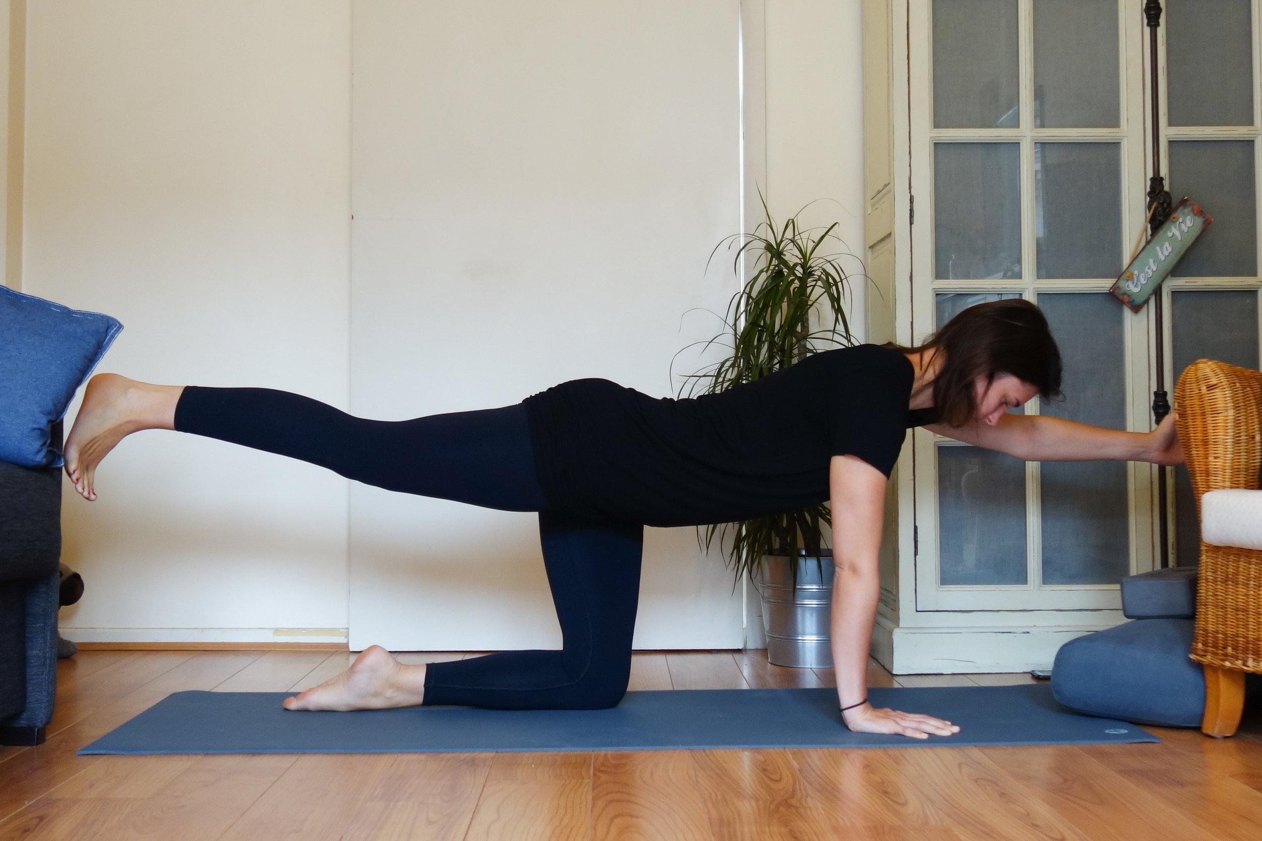 table balancing pose you go do yoga