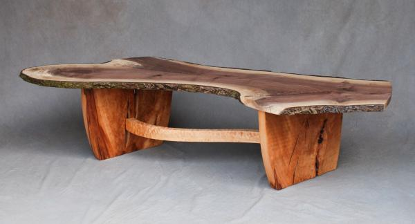 Wavy Edge Walnut Coffee Table