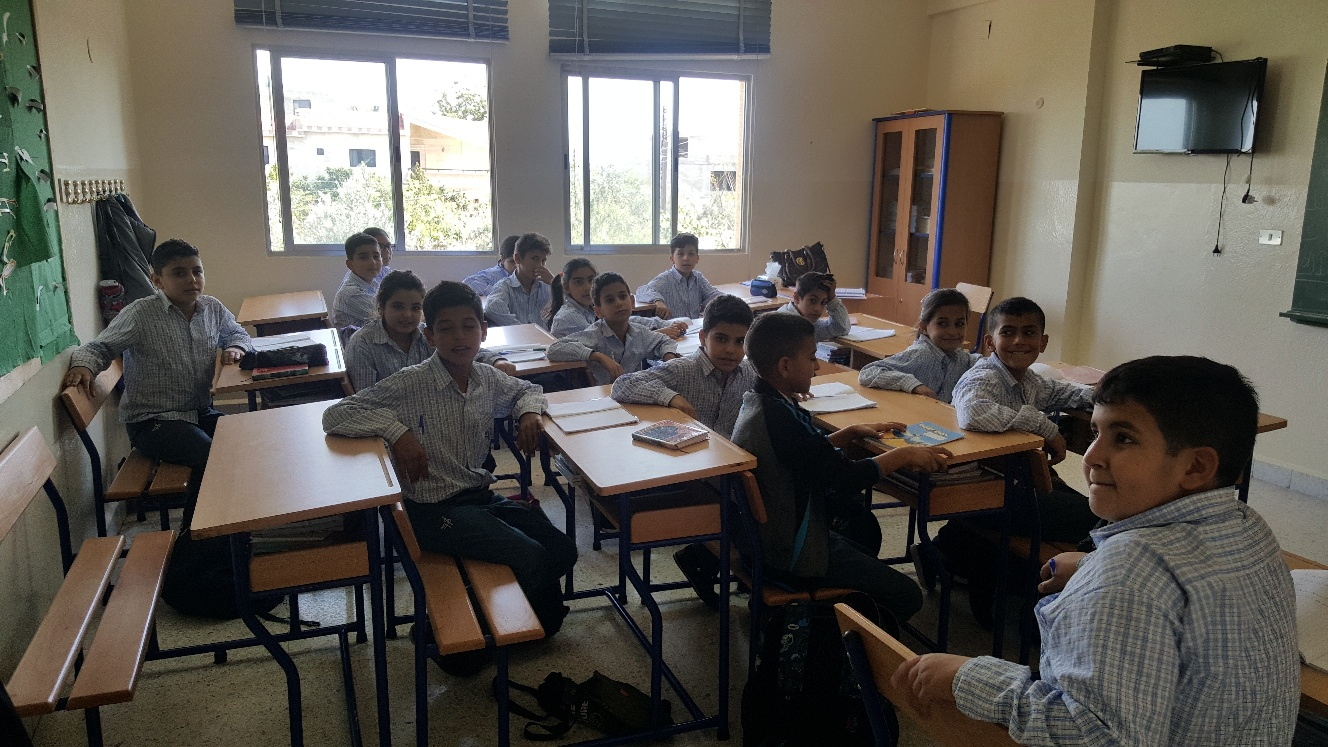 New desks at the Maronite Holy Family School