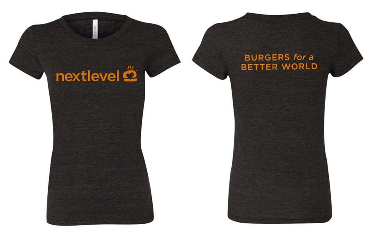 BURGERS FOR A BETTER WORLD WOMENS T-SHIRT