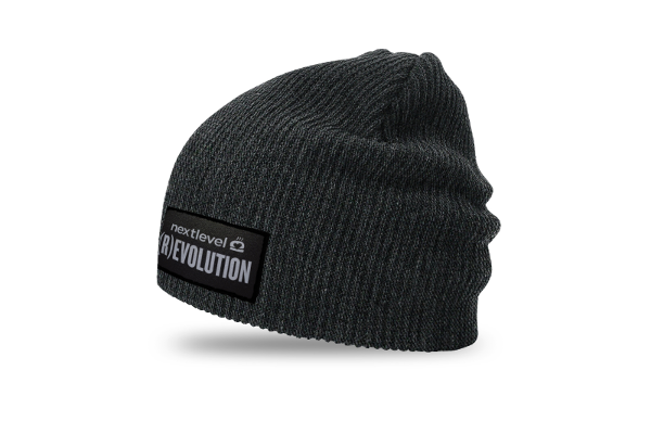 (R)EVOLUTION Beanie (slouch-charcoal)
