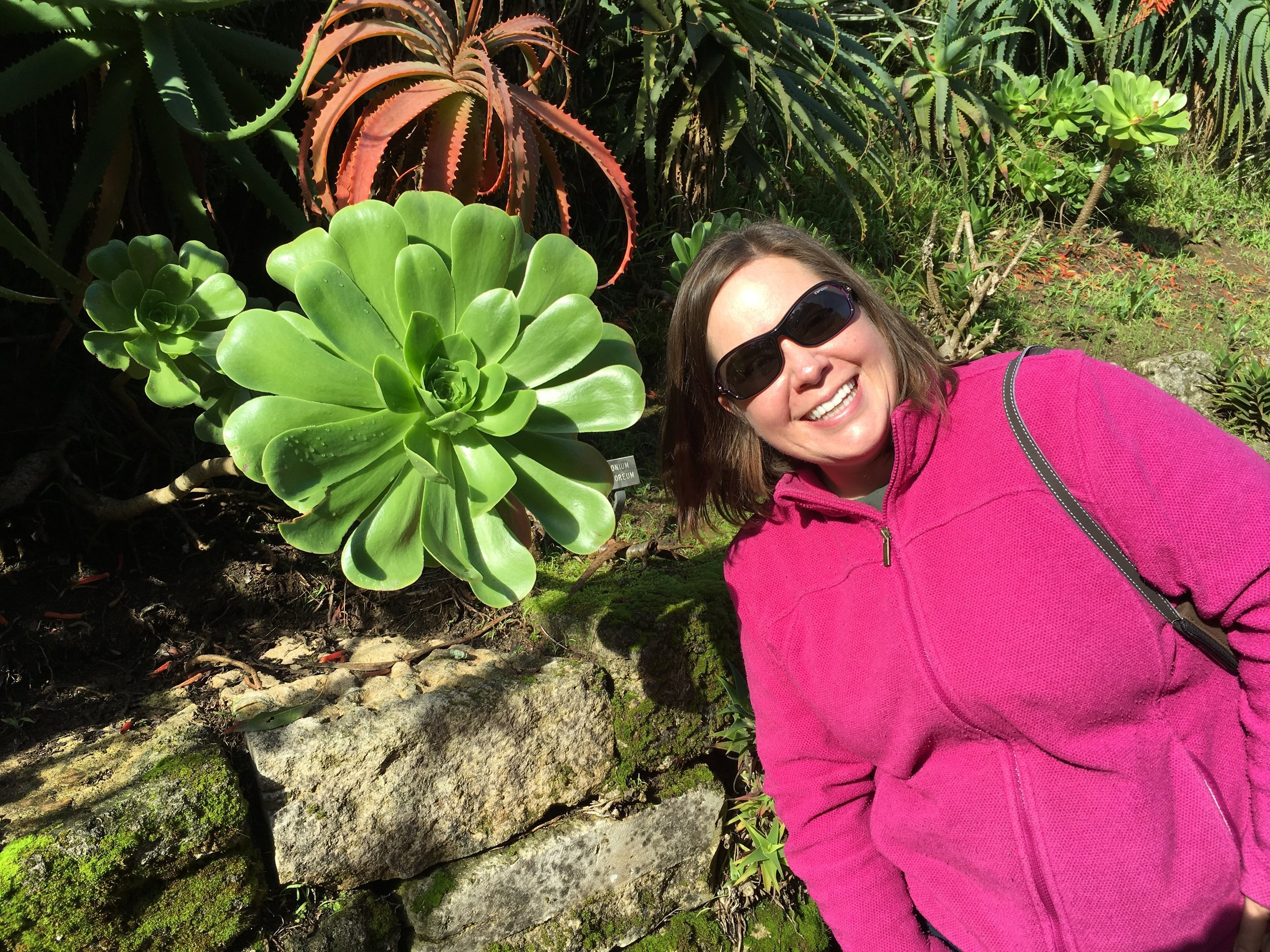 Sarah and succulents: San Francisco Botanical Gardens