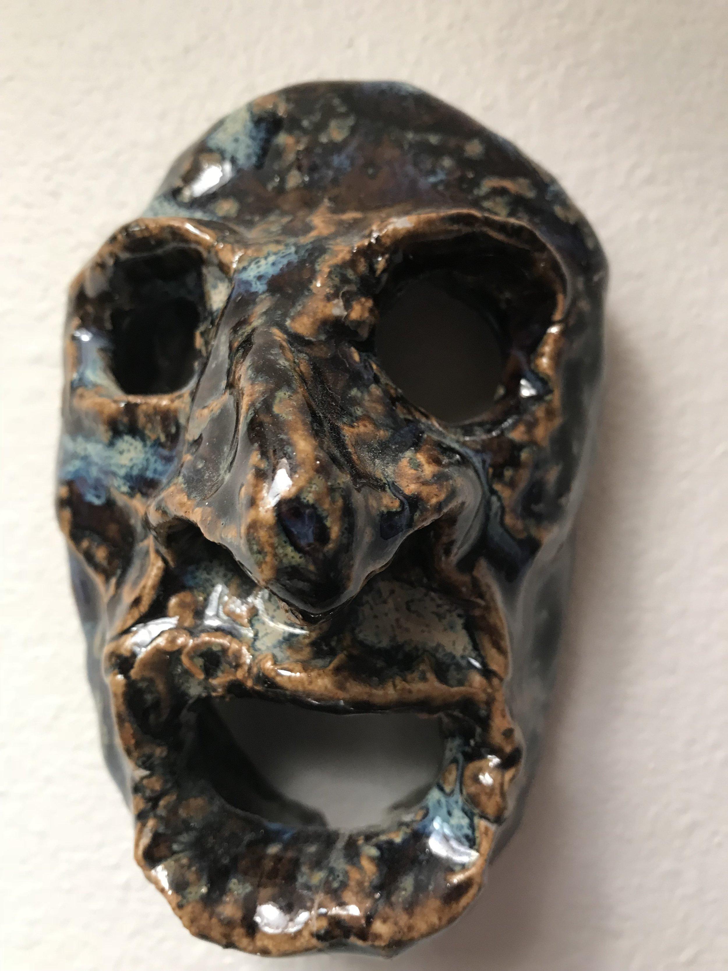 Ceramic face, Joe Pasini