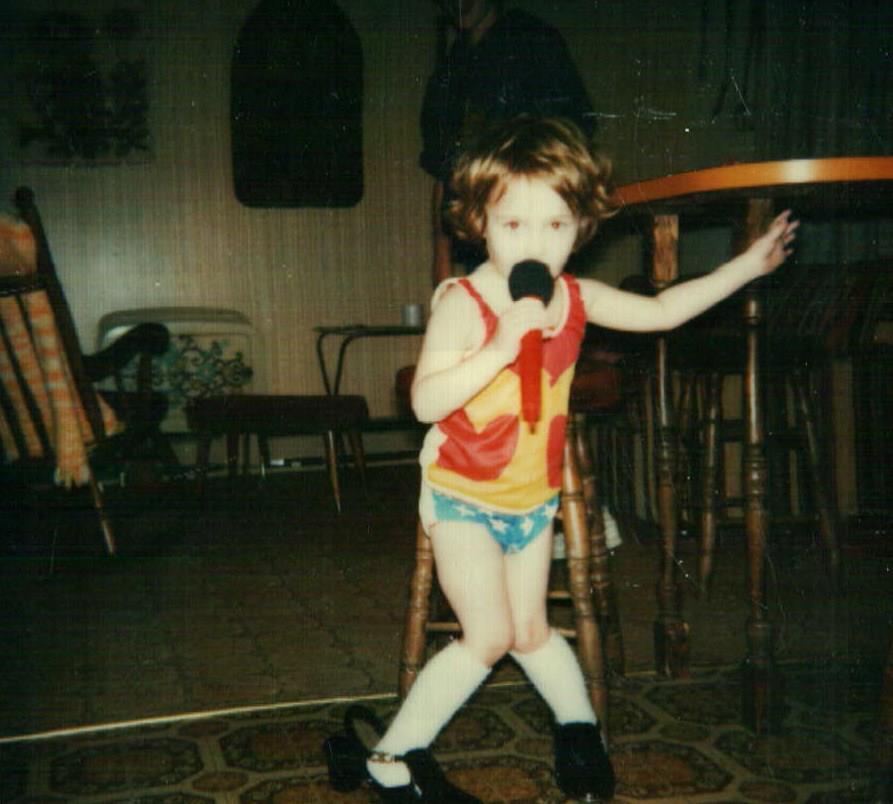 Krista performing in Shepherd Montana circa early 1980's
