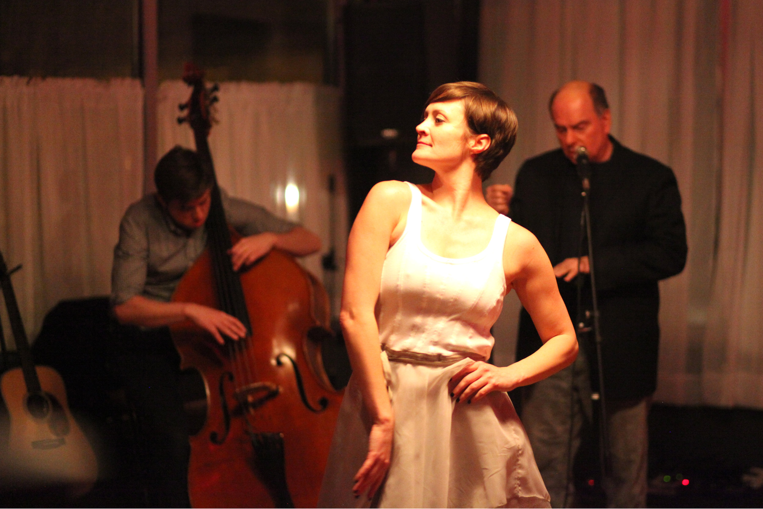CHANSONS,A WINTER'S NIGHT OF POETRY, MUSIC & DANCE - An intimate evening with artists Dave Caserio, Parker Brown, and Krista Leigh Pasini; melding both solo and trio performances in music, dance, and poetry.Harper & Madison 2017