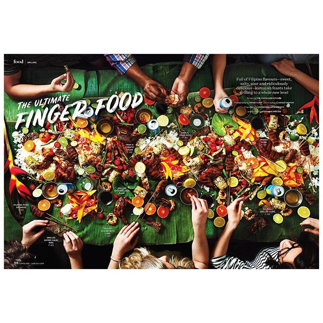 Such a fun project to shoot. Kamayan style feast in the June/July issue of @chatelainemag