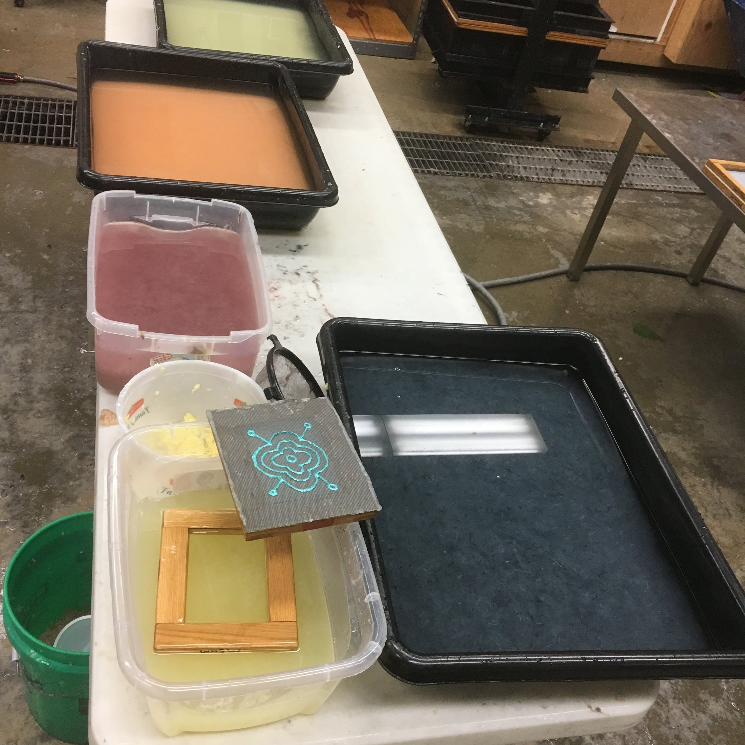 J U L Y   2 0 1 7   Teaching a summer class, Introduction to Papermaking.