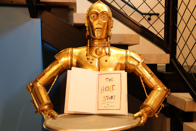 """C3PO says """"Support Book Harvest"""""""