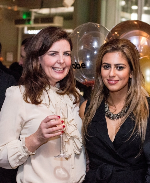 Founder Sahira Mullins with Donna Middleton Founder of The Shirt Company