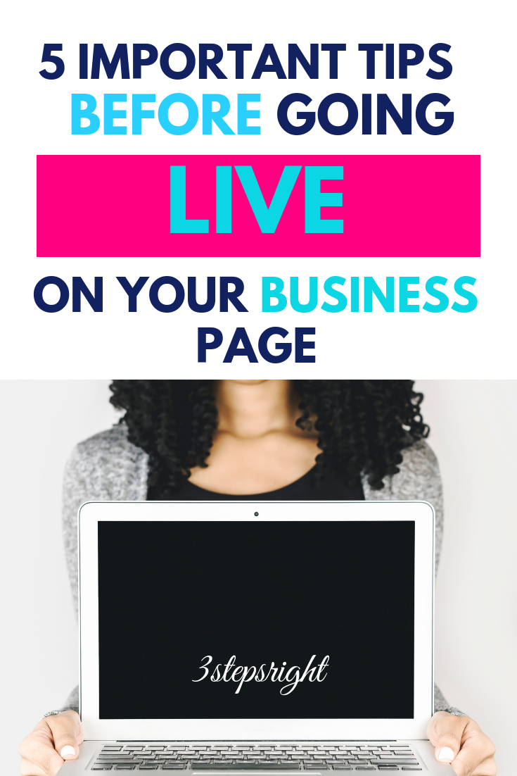 5 Important Tips before Going Life on your Business Page.png