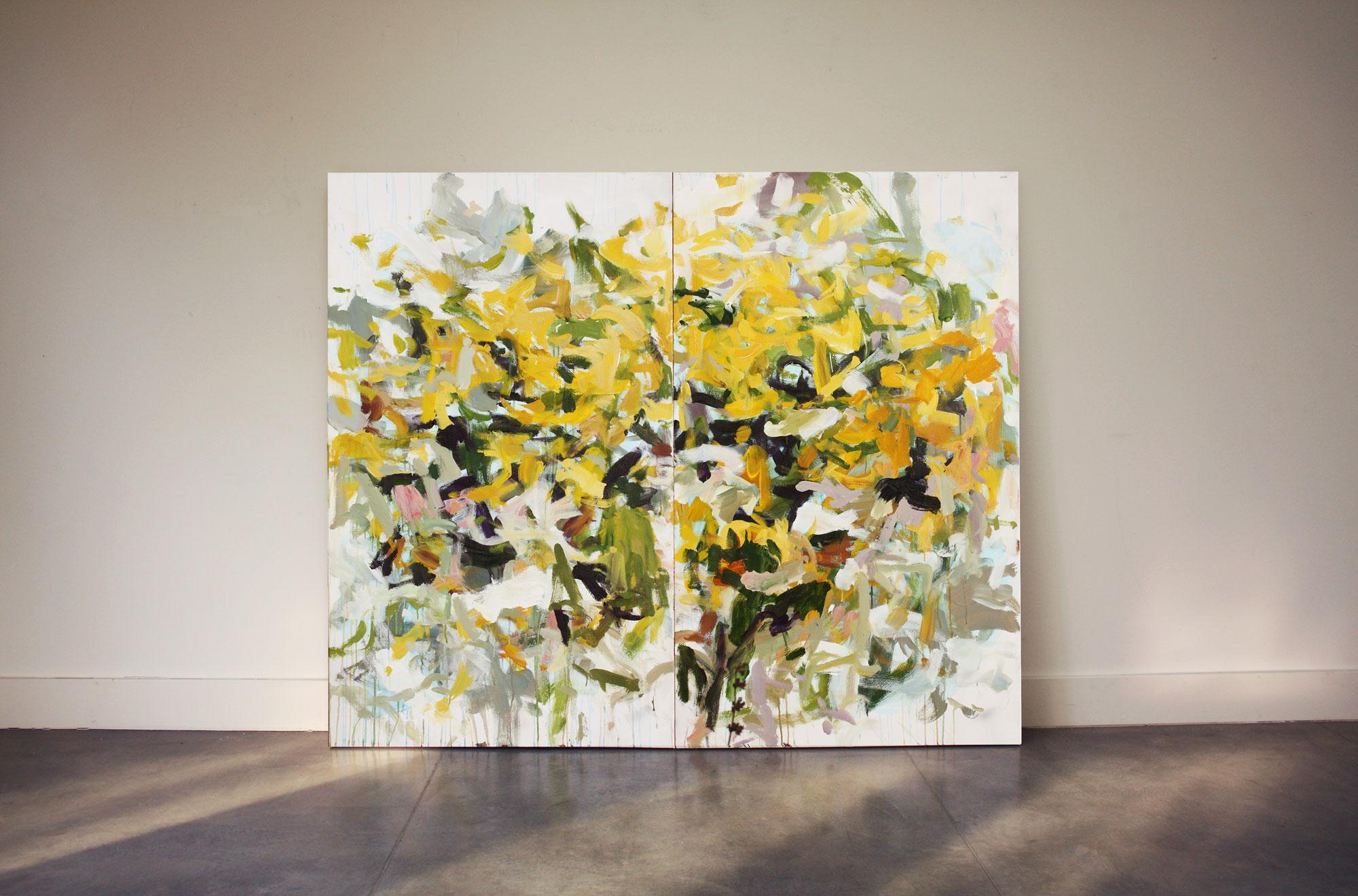 golden rain by abstract artist karen silve
