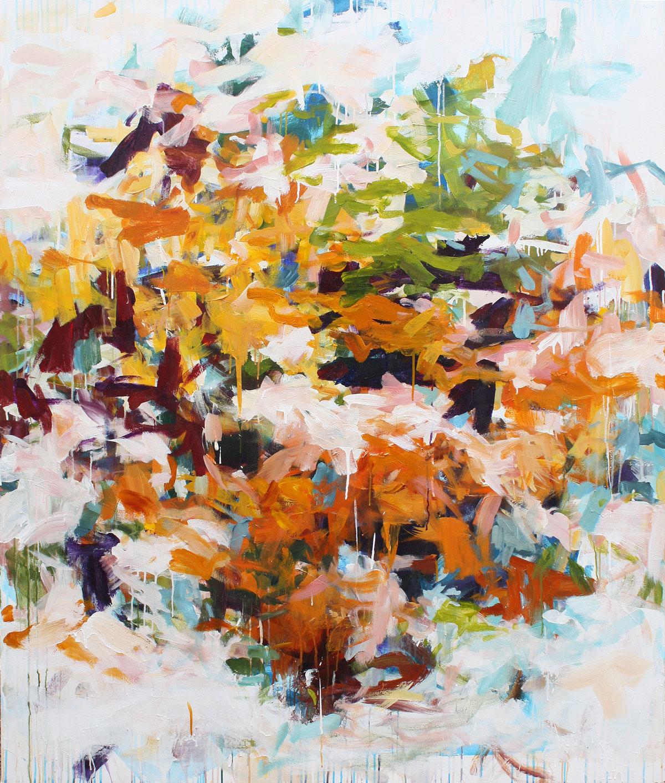 Market, 68 x 58 in, acrylic on canvas