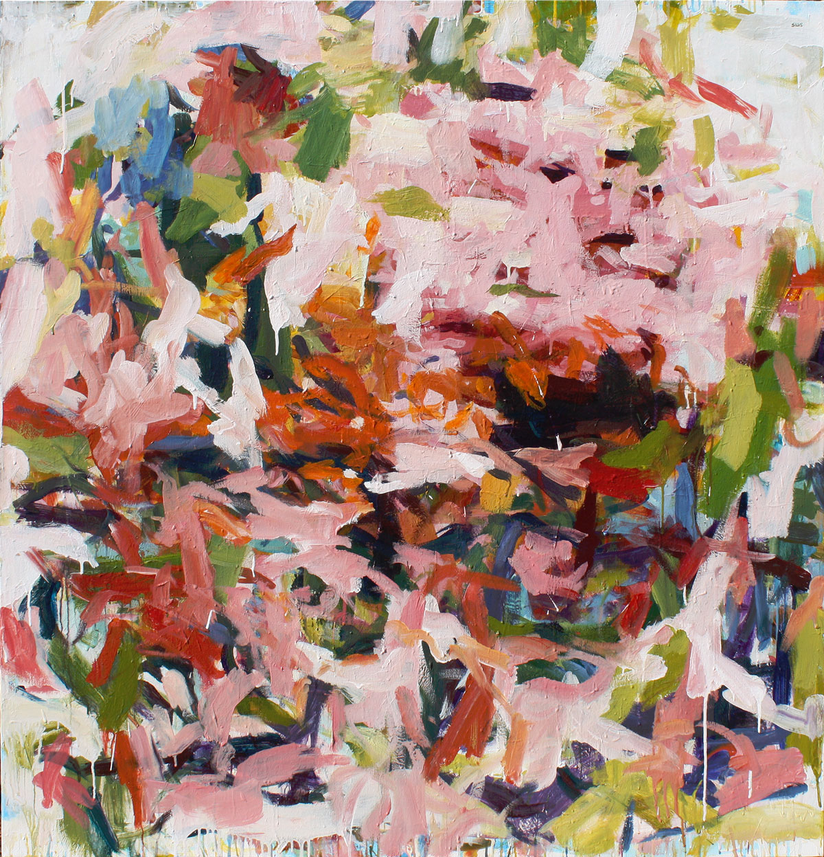 Lush Chaos II, 60 x 58 in. Available at  Susan Calloway Fine Arts .
