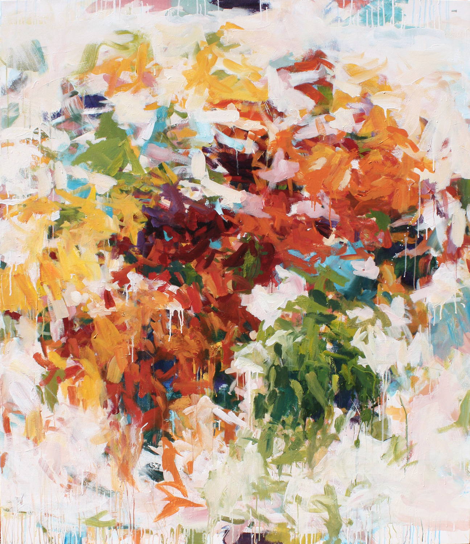 Market 51 , acrylic on canvas, 68 x 58 in. 173 x 148 cm