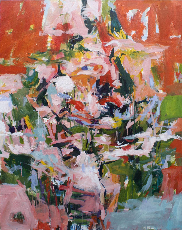 My Reflection,  58 x 46 in, 147 x 117 cm, acrylic on canvas
