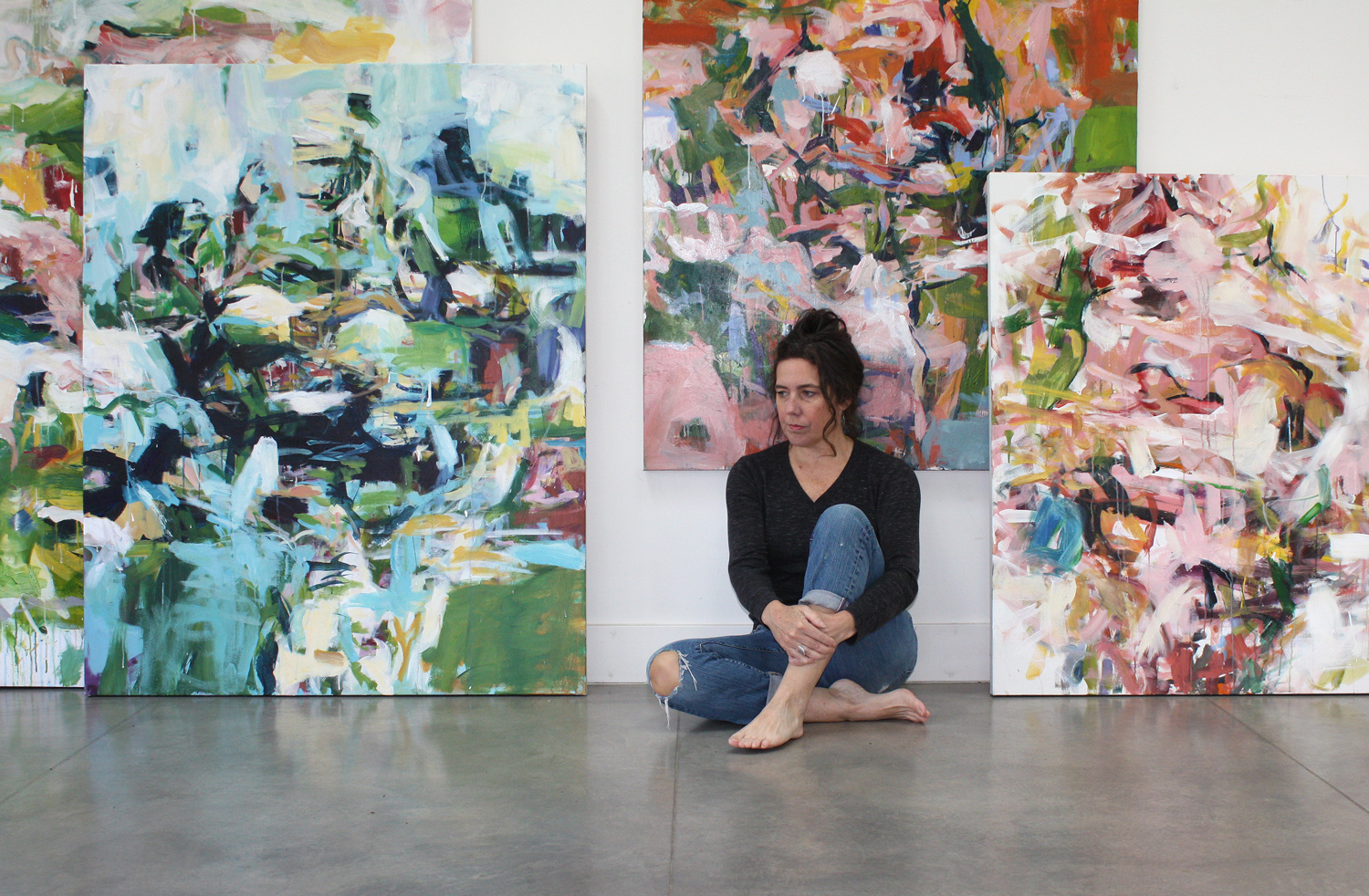 Karen Silve, vulnerability and strength paintings