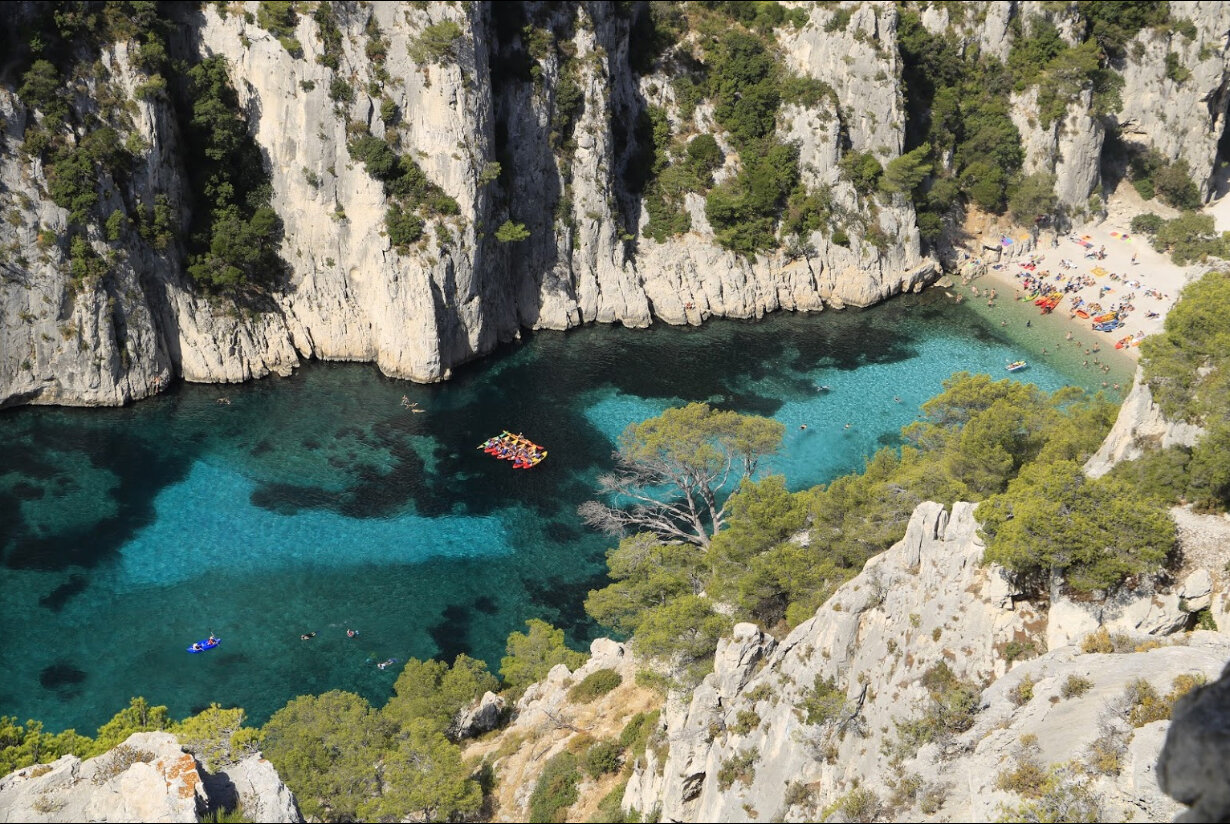 Photo swiped from the internet by Zied Boussif of  Calanque D'En-Vau  in Marseille.