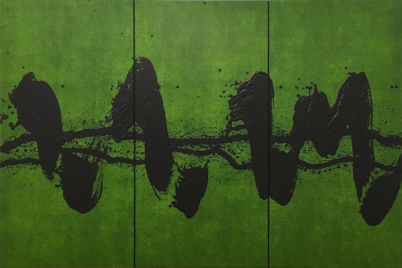 Fabienne Verdier,  Suite Provençal I - en hommage à Darius Milhaud , 2015, 180 x 272 cm