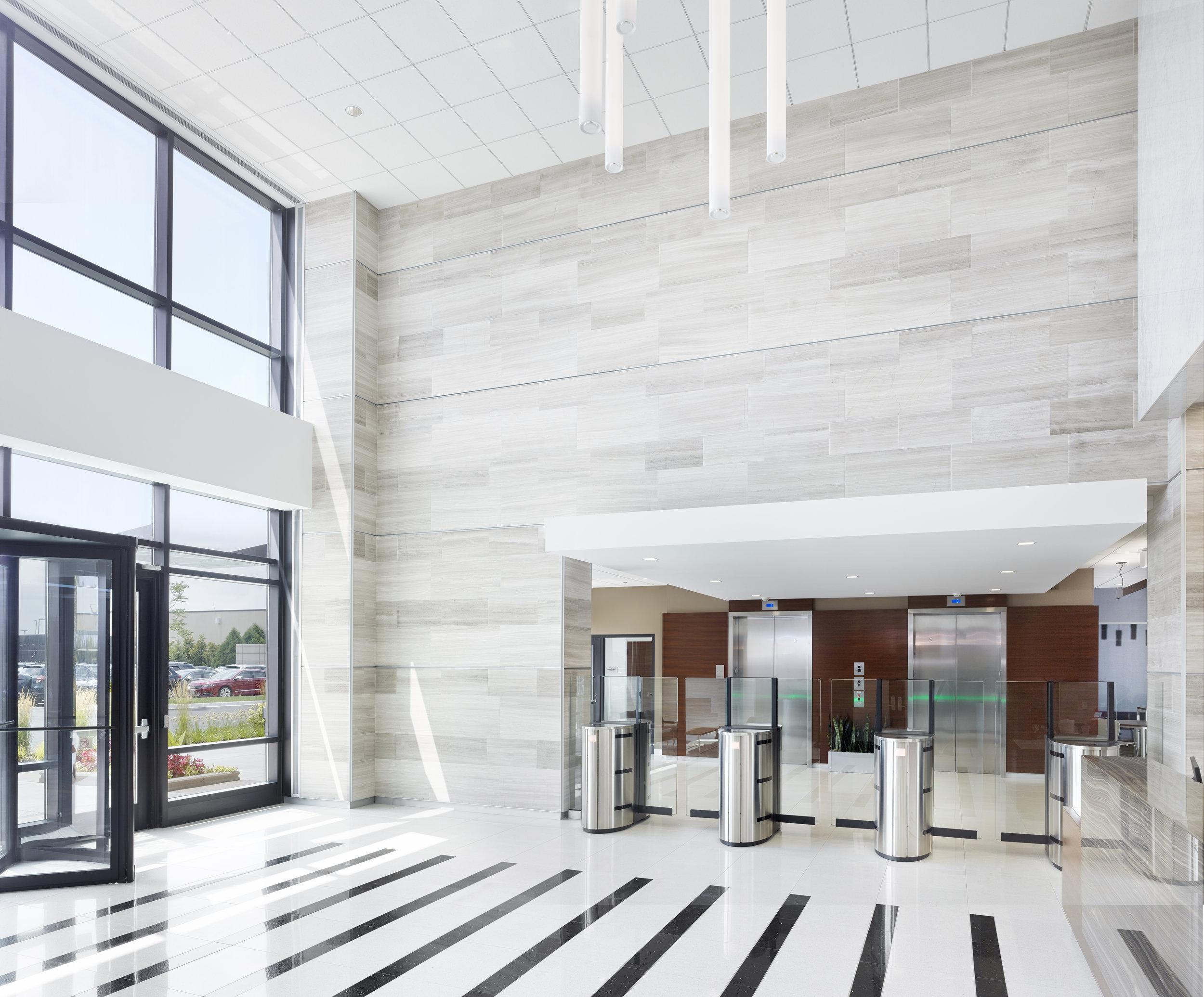 Northwest Crossings, new building lobby