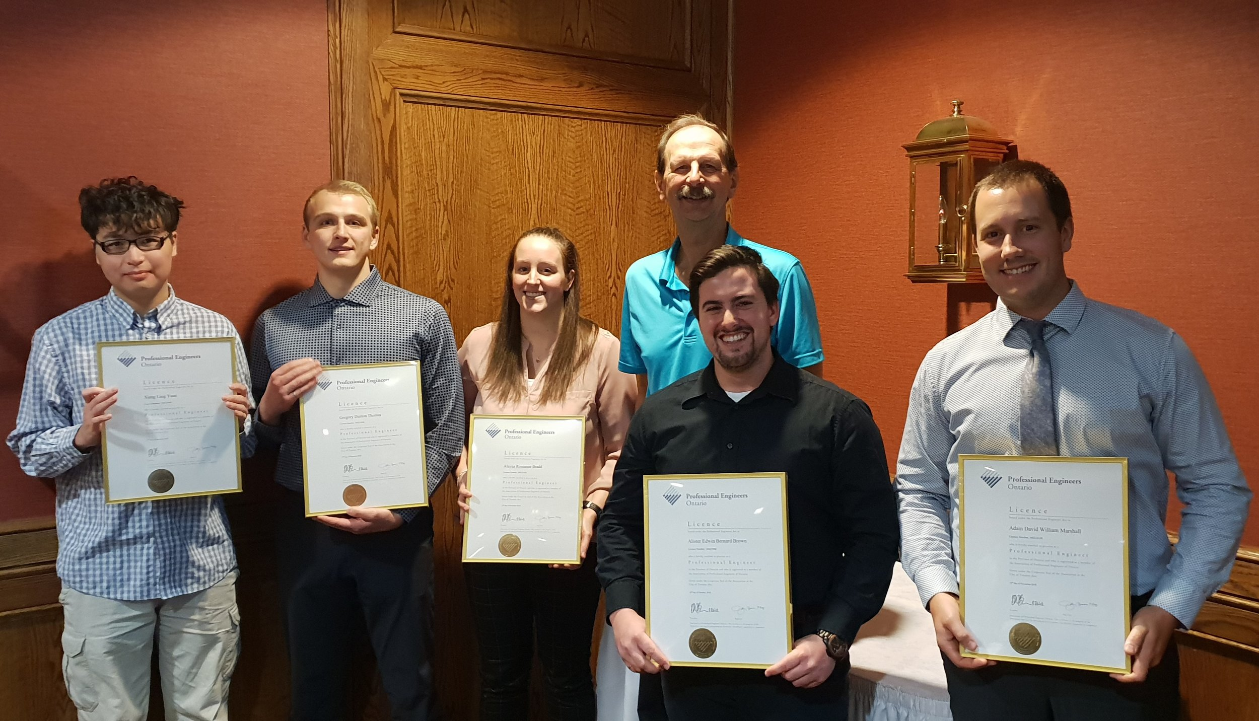 New P.Eng Licence Recipients