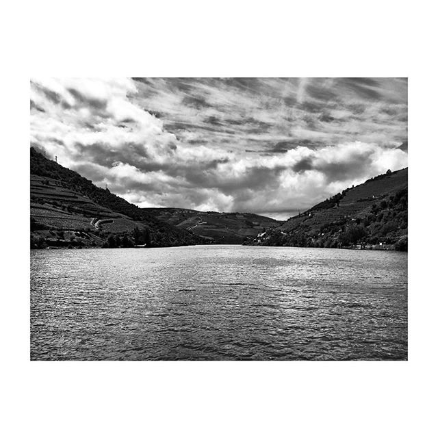 #DouroValley #DouroRiver #Pinhao #Portugal #Landscape #Vineyards #BlackAndWhite #Photography