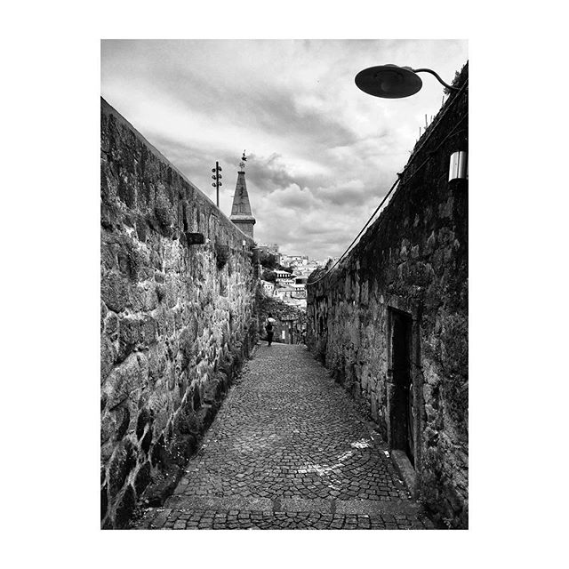 #Porto #Portugal #Alley #BlackAndWhite #Photography