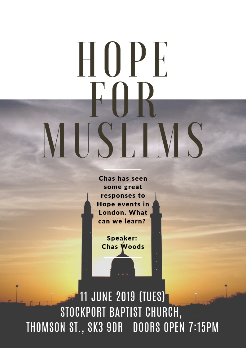 Hope for Muslims event Stockport